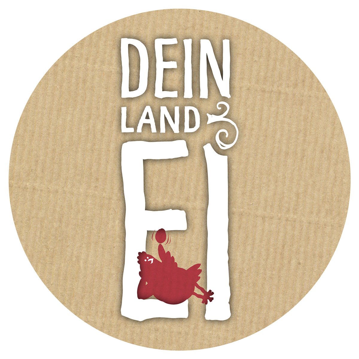 DEIN LAND EI Logo Packpapier 4c